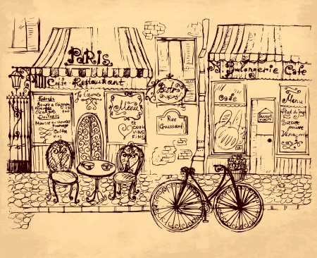 bistro: hand drawn illustration