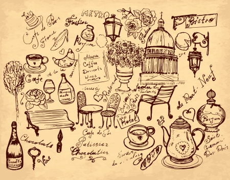 bistro: hand drawn illustration