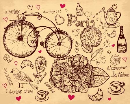 bike cover: hand drawn illustration