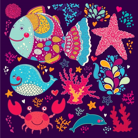 Underwater  Vector cartoon illustration Stock Vector - 18194287