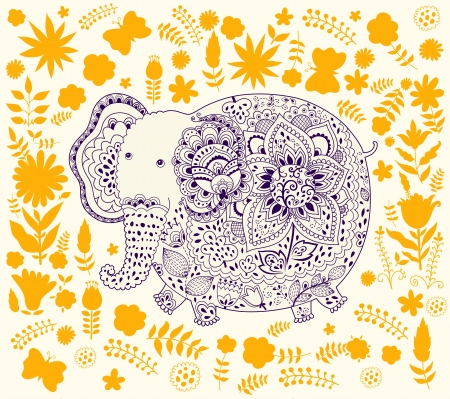 indian elephant: Decorativo elefante indio