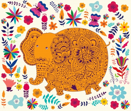 hapiness: Holiday card with elephant