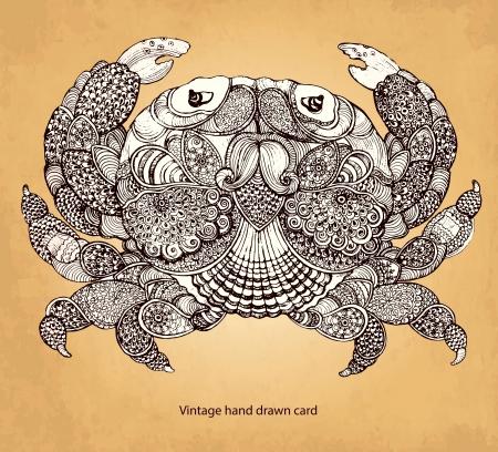 Decorative crab Vector