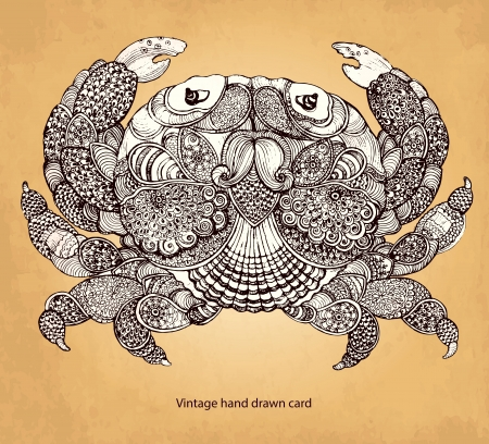Decorative crab Ilustrace
