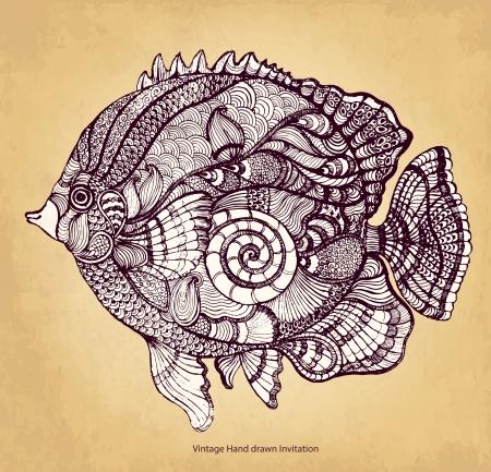 Dekoratív hal Illusztráció