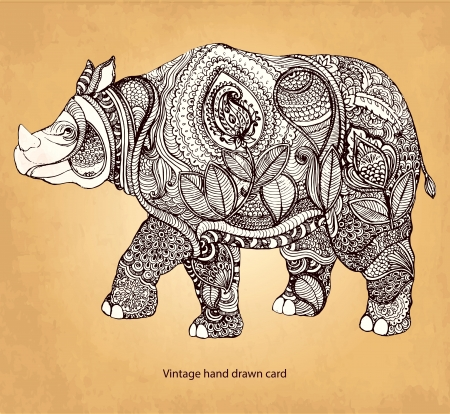 Rinoceronte Vectores