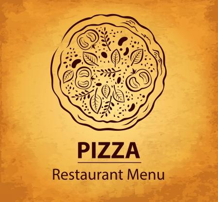 El diseño del menú pizza