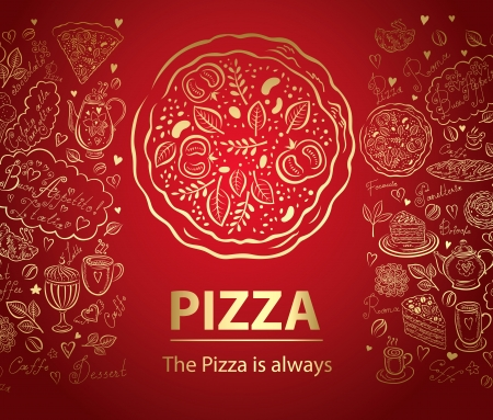 pizza ingredients: background, beach, card, cartoon, crab, decor, decorative, design, drawing, fish, funny, holiday, icon, illustration, journey, marine, ornament, palm, party, pattern, rest, sailing, sea, sea horse, sea life, season, set, ship, summer, sun, symbol, tourism Illustration
