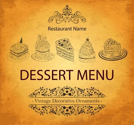 menu de postres: Carta de postres de dise�o para el restaurante
