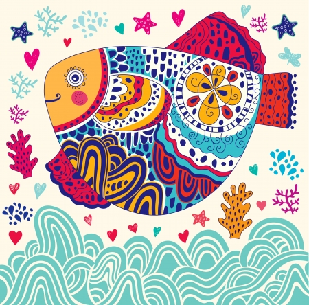 물고기와 만화 해양 그림 스톡 콘텐츠 - 20331295