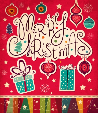 Vector Christmas card Stock Illustratie