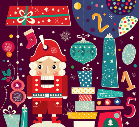 Nutcracker. Christmas vector illustration Vector