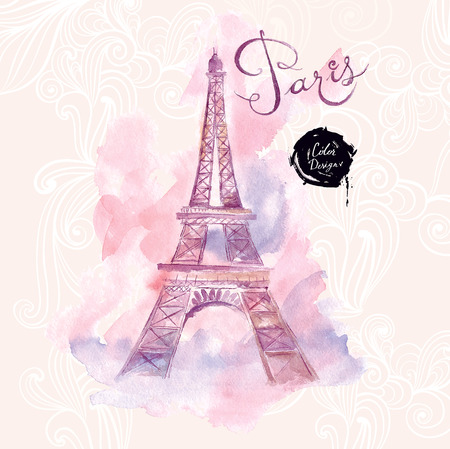 famous painting: Paris. Vector illustration Illustration