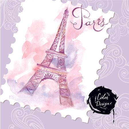 towers: Paris. Vector illustration Illustration