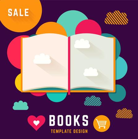 libro abierto: Modelo del vector con el libro abierto