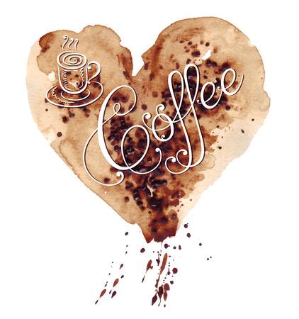 fond caf�: Vector illustration avec l'original fond de caf� Illustration