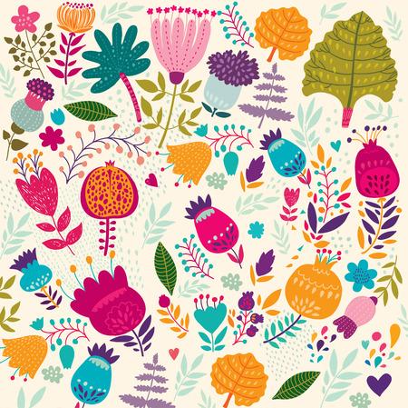 花のベクトルの背景。  イラスト・ベクター素材