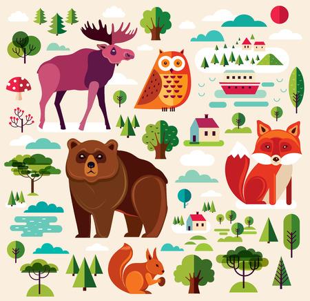 forest animals: Forest animals colletion Illustration