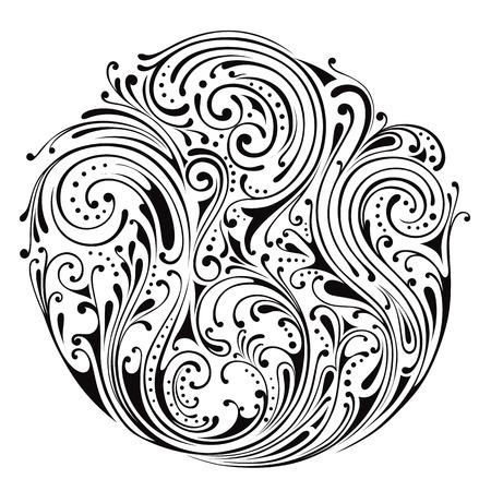 ornamental: Vector ornamental circle Illustration