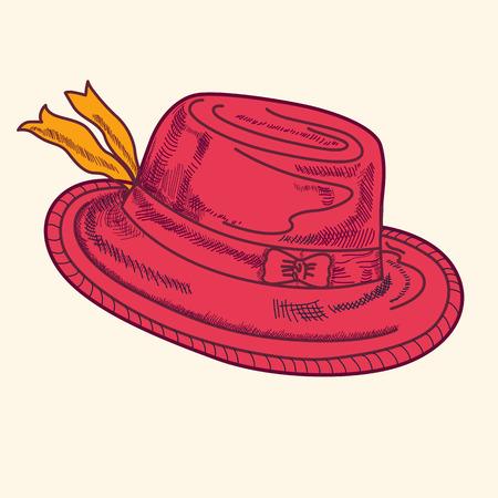 Illustration avec le chapeau rouge