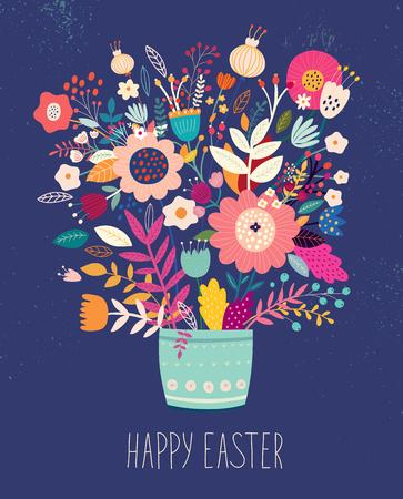 illustration vectorielle avec bouquet de fleurs Vecteurs