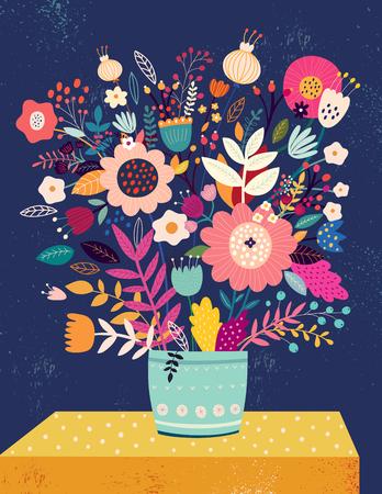 Bouquet of flowers design Illustration