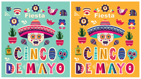 Beautiful vector templates for Mexican holiday 5 may Cinco De Mayo