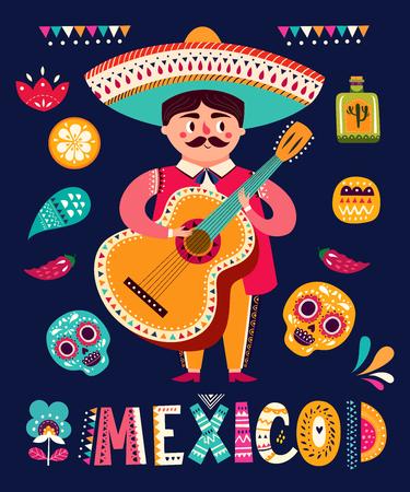 有吉他的墨西哥人