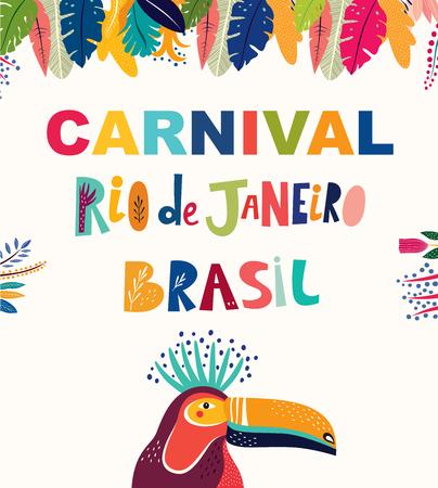 Brazil Carnival template. Vector illustration Foto de archivo - 105815538