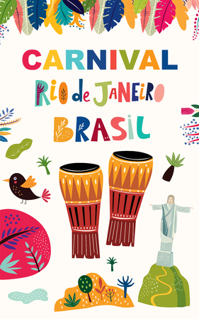 Brazil Carnival template. Vector illustration