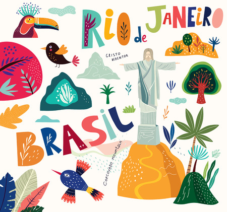 Vector symbols of Brazil