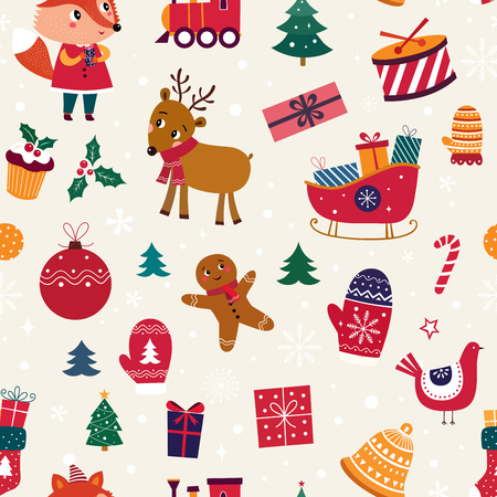 Christmas seamless pattern Stock Vector - 111480990