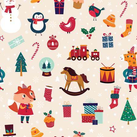 Christmas seamless pattern 일러스트
