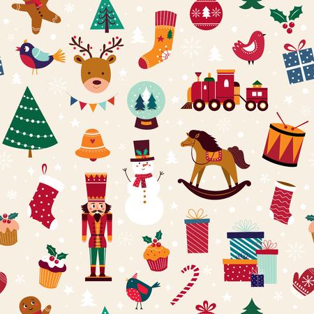 Collection of traditional Christmas decorative elements Foto de archivo - 111481000