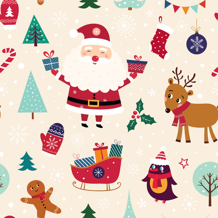 Christmas seamless pattern Stock Vector - 111480999