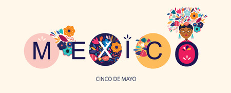 Illustration with beautiful design about Mexico Ilustrace