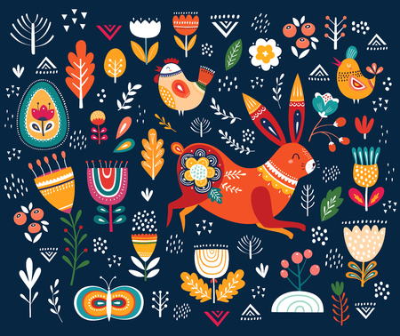 Illustration ethnic Easter pattern Ilustrace