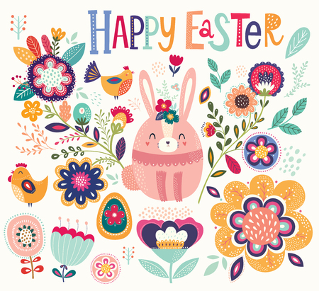 Easter greeting card Ilustrace