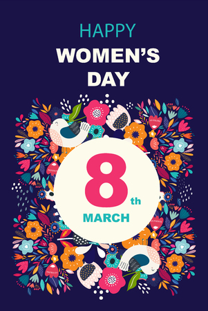 8 march, International Womens Day. Ilustrace