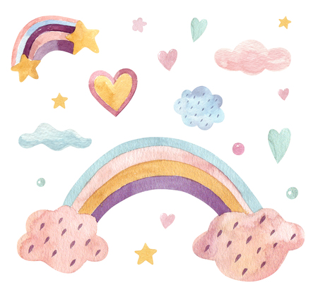 Rainbow colors for birthday party girl Stok Fotoğraf
