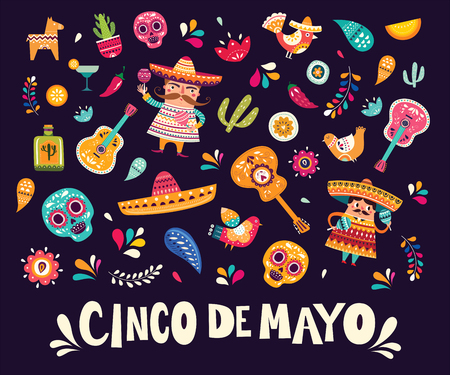 Mexican pattern for Cinco De Mayo Standard-Bild - 123051394