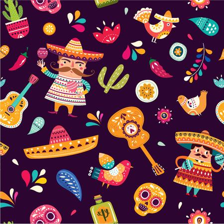 Motif mexicain pour Cinco De Mayo