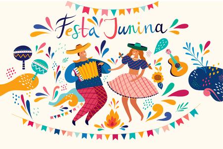 Beautiful Festa Junina holiday design for Brazil.