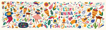 Beautiful Festa Junina holiday design for Brazil. Archivio Fotografico - 123051405