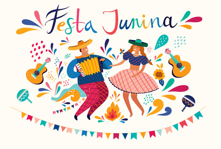 Beautiful Festa Junina holiday design for Brazil. Standard-Bild - 123051404