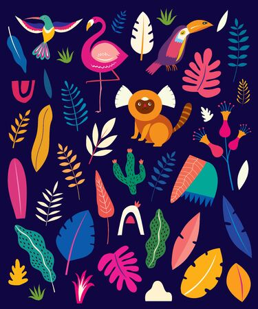 Animals big collection seamless pattern