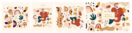 Decorative abstract collection with colorful doodles. Hand-drawn modern illustration Ilustrace