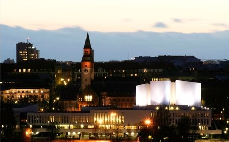 nightscene: Finlandia hall at night