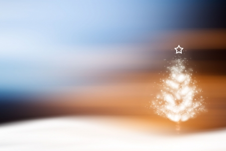 Christmas tree covered with snow Stock Photo - 928487