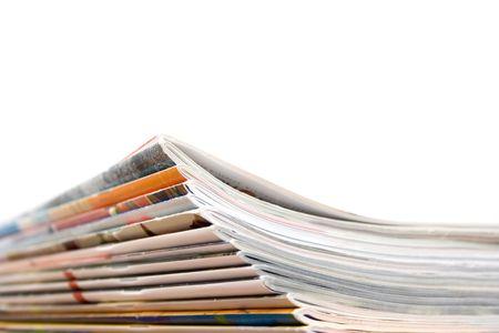 Pile de magazines  Banque d'images